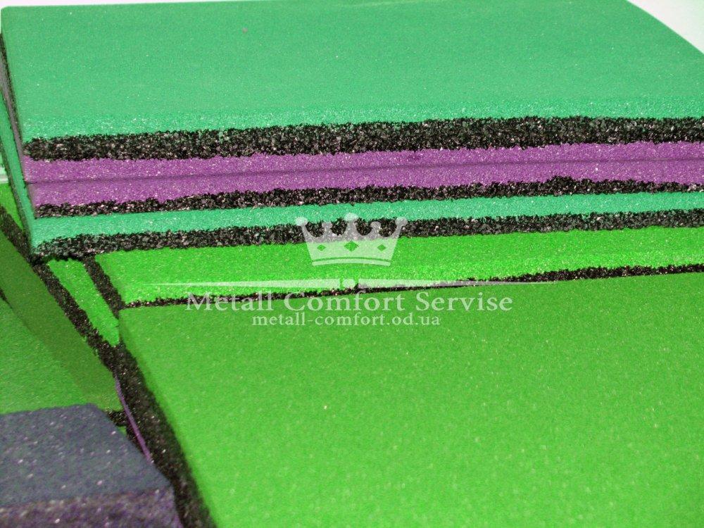 Купить Резиновая плитка 500х500х20 мята