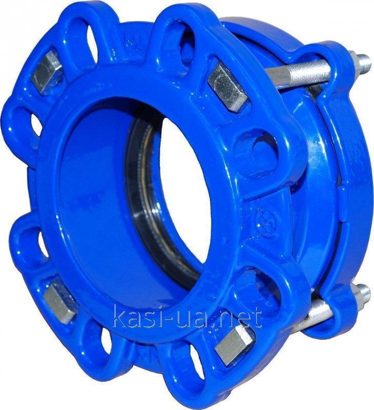 Муфта-фланец для стальных и чугунных труб тип 9152 JAFAR, чугун GGG50, DN 300 Dz 315-349