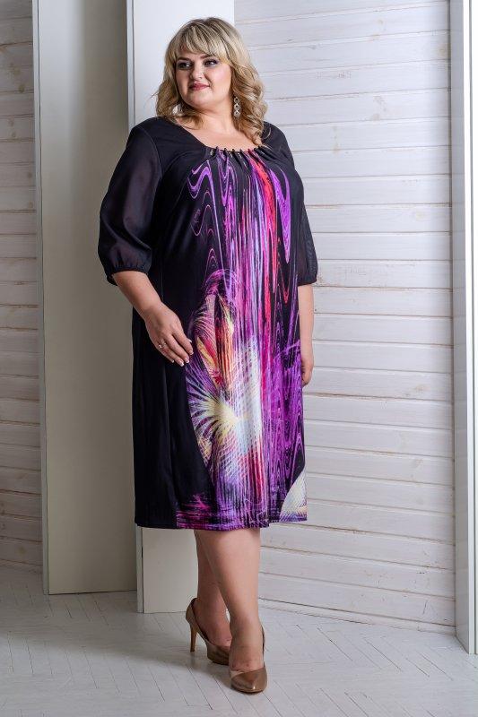 Купить Красивое , яркое , летнее платье больших размеров Симфония 1094С-1