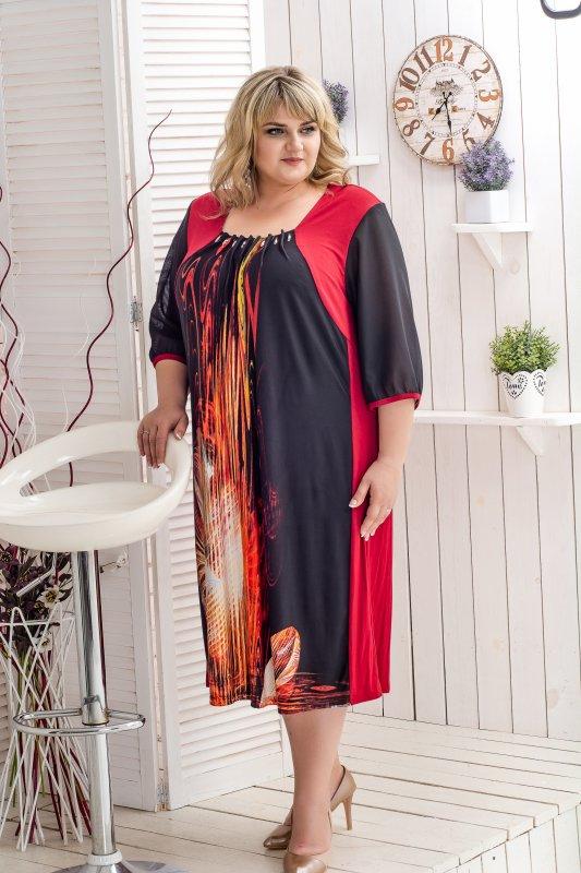 Купить Красивое , яркое , летнее платье больших размеров Симфония 1094С-2