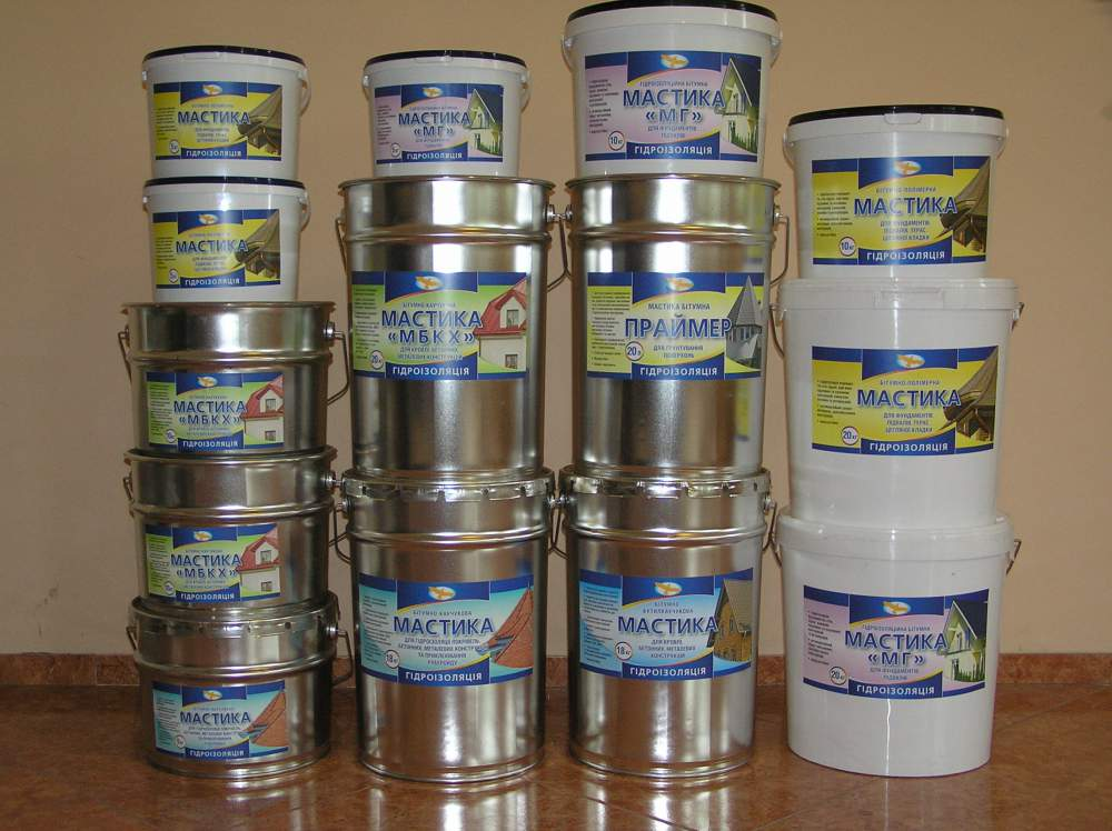 Buy Mastics waterproofing bituminous from the producer: