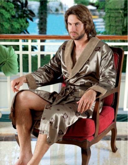 Купить Мужские халаты домашние шелковые