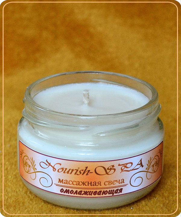 "Buy Massage candle of ""Nourish-SPA"" rejuvenating (small)"