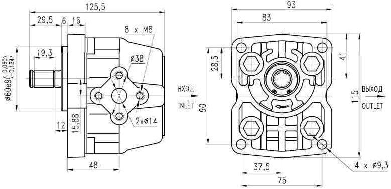 Купить Насос шестеренчатый НШ 6Д-3 для трактора Т-150, Т-150-05, Т-150Д (бульдозер) Гидросила