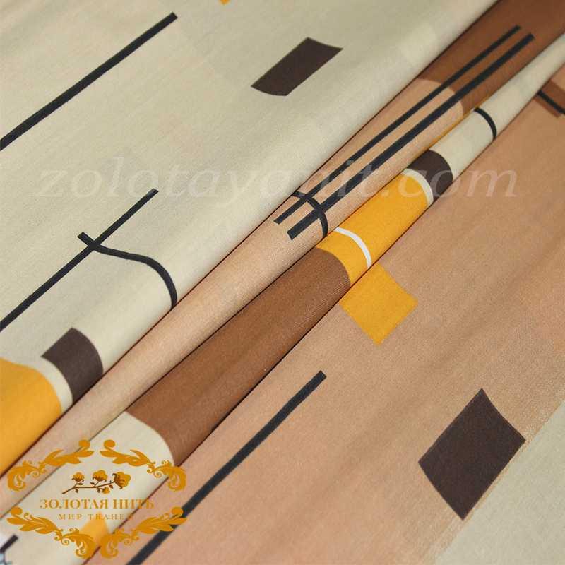 Бязь Gold D-12663-brown