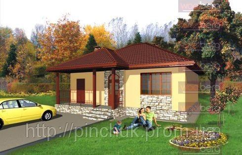 Купить Каркасный дом - американский проект Сакура 80кв.м.
