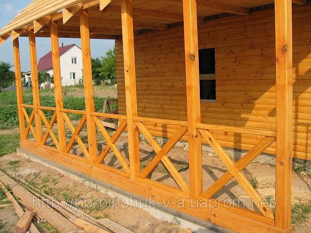 Купить Веранда деревянная открытого типа.