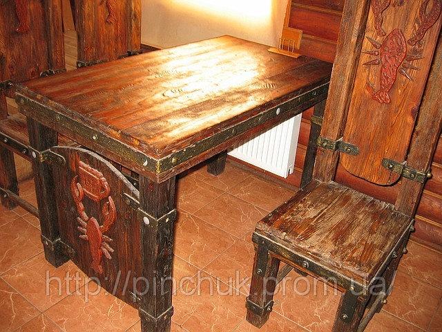 Купить Дизайн интерьера ресторанов мебель под старину. Стол и стул.