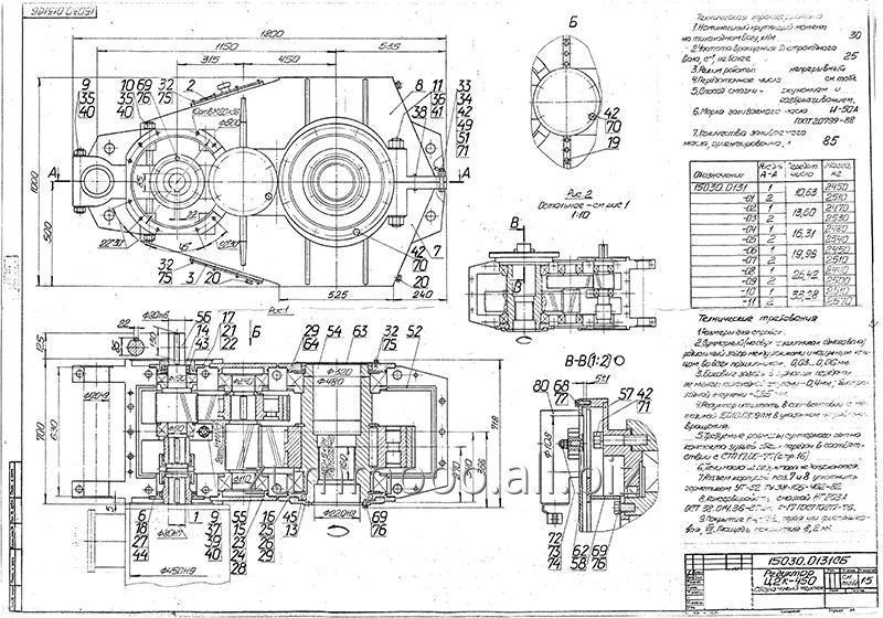 Купить Редуктор Ц2К-450 и запасные части к нему