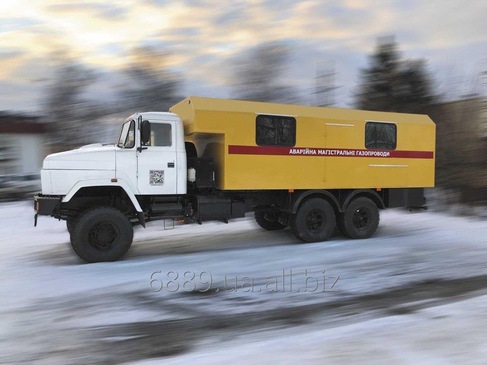 Купить Специализированный кузов-фургон автомобиль ФПВ-16608 АМГ-2 (Аварийная магистральных газопроводов) на базе шасси КрАЗ-63221