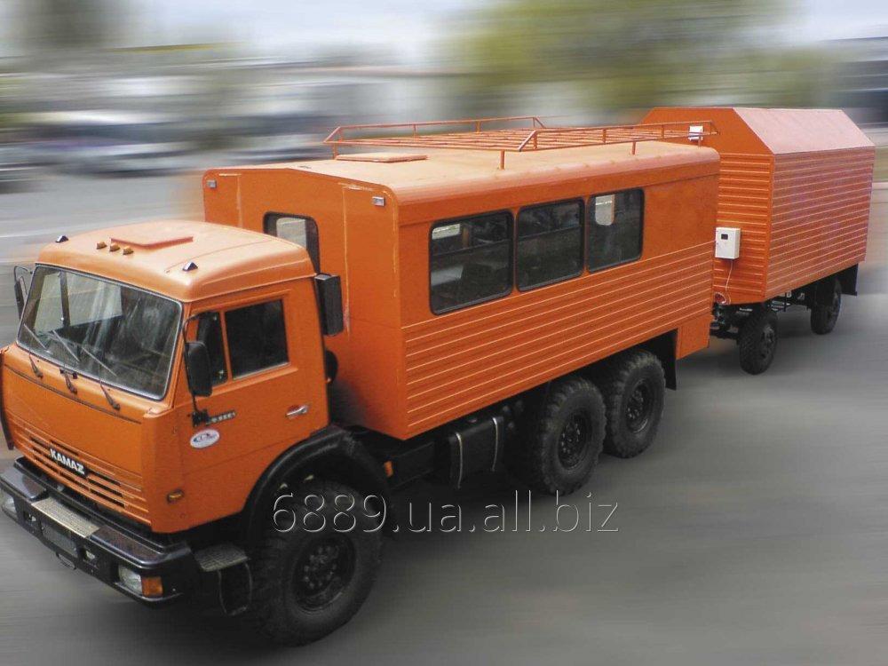 Купити Спеціалізований кузов фургон ФПВ-26608 (Бригадний) на базі шасі МАЗ-43114 з причепом ГКБ-819 (для проживання 8-ми осіб)