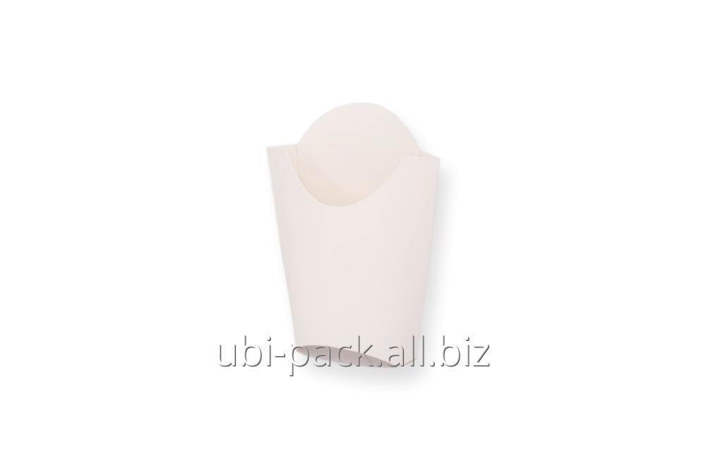 Упаковка для картошки фри макси (ч/ц картон) 120х125