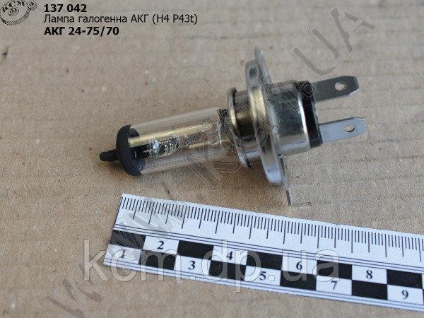 Лампа галогенна АКГ 24-75+70 (Н4 Р43t)
