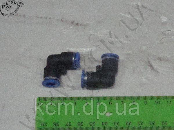 Фітинг пластиковий для з'єднання гальм. трубок, з подвійним замком ФП D=8 мм (куток) КСМ