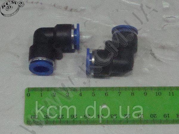 Фітинг пластиковий для зєднання гальмівних трубок з подвійним замком ФП D=12 (куток) КСМ