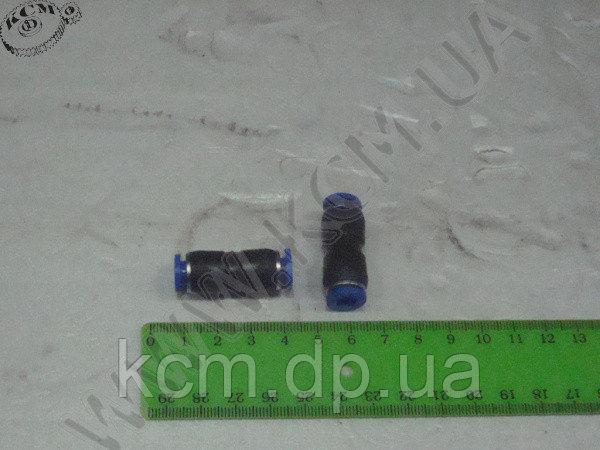 Фітинг пластиковий для зєднання гальмівних трубок з подвійним замком ФП D=6 КСМ