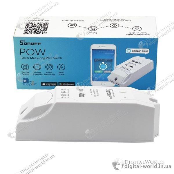 Купить Дистанционный Wi-Fi выключатель Sonoff Pow для управления электропитанием и учета электроэнергии