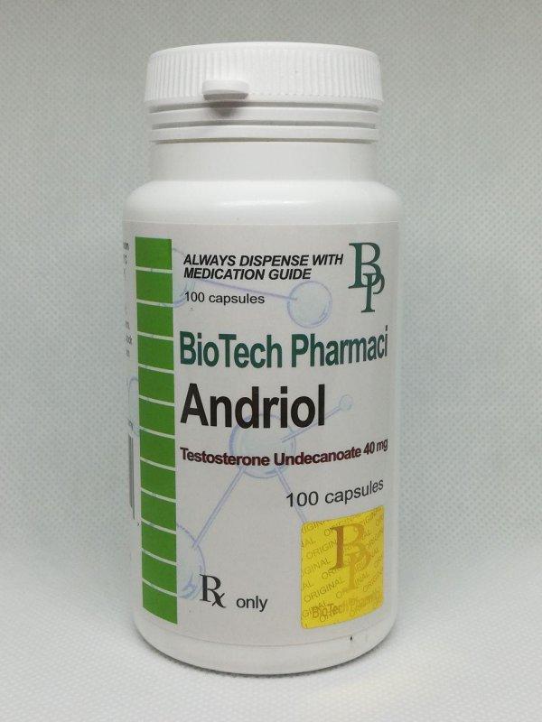 Buy Andriol (Testosterone Undecanoate) 40 100 mg capsules