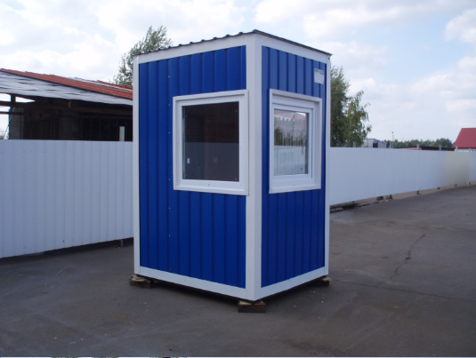 Купить Блок-модуль 1,5х1,5 м предназначен для организации пропускного контроля