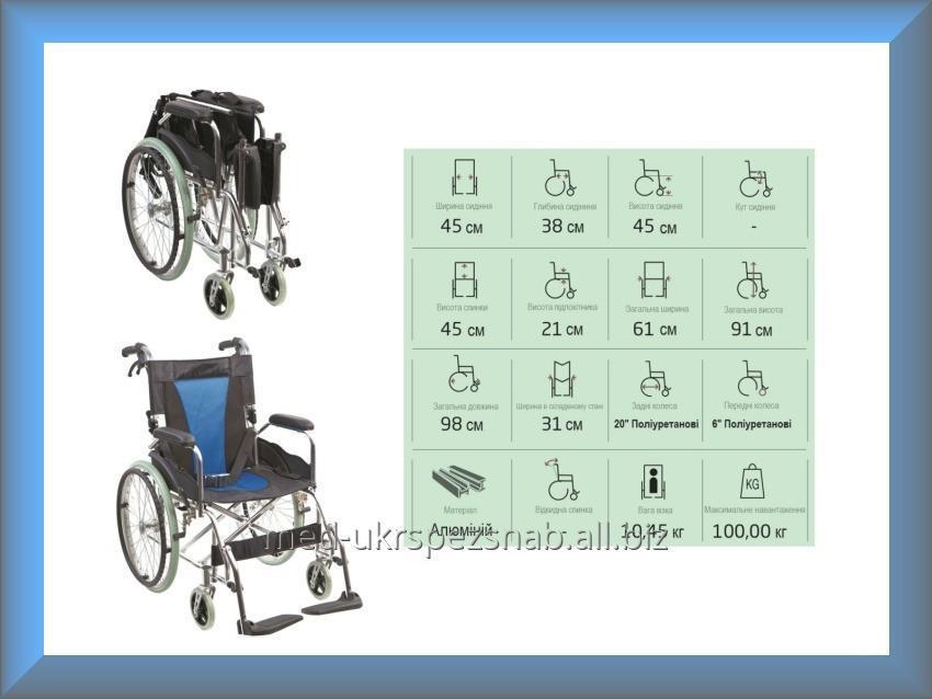 Купить Коляска инвалидная алюминиевая, без двигателя Golfi G503