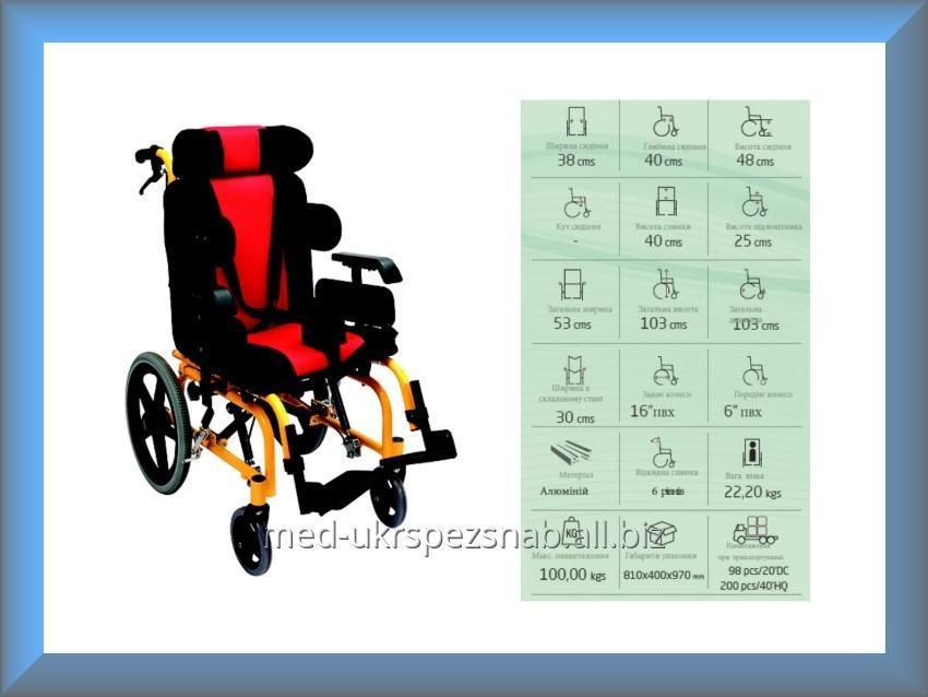 Купить Коляска инвалидная, педиатрическая, для пациентов с церебральным параличом, без двигателя Golfi Golfi-16C