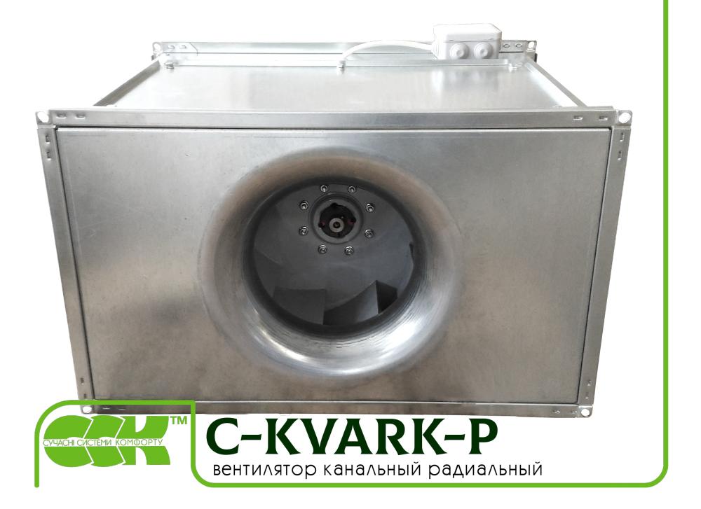 C-KVARK-P-80-50-40-4-220 вентилятор канальный прямоугольный с однофазным электродвигателем