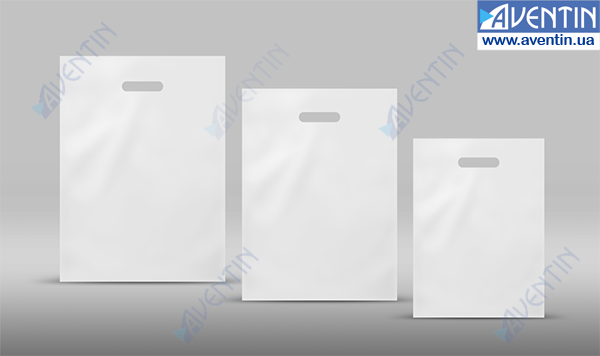 Buy Path Handle Bags white glossy 190x250 (50pcs / pack)