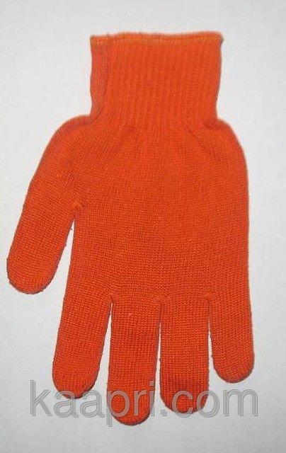 Купить Перчатки трикотажные с ПВХ точкой оранжевые