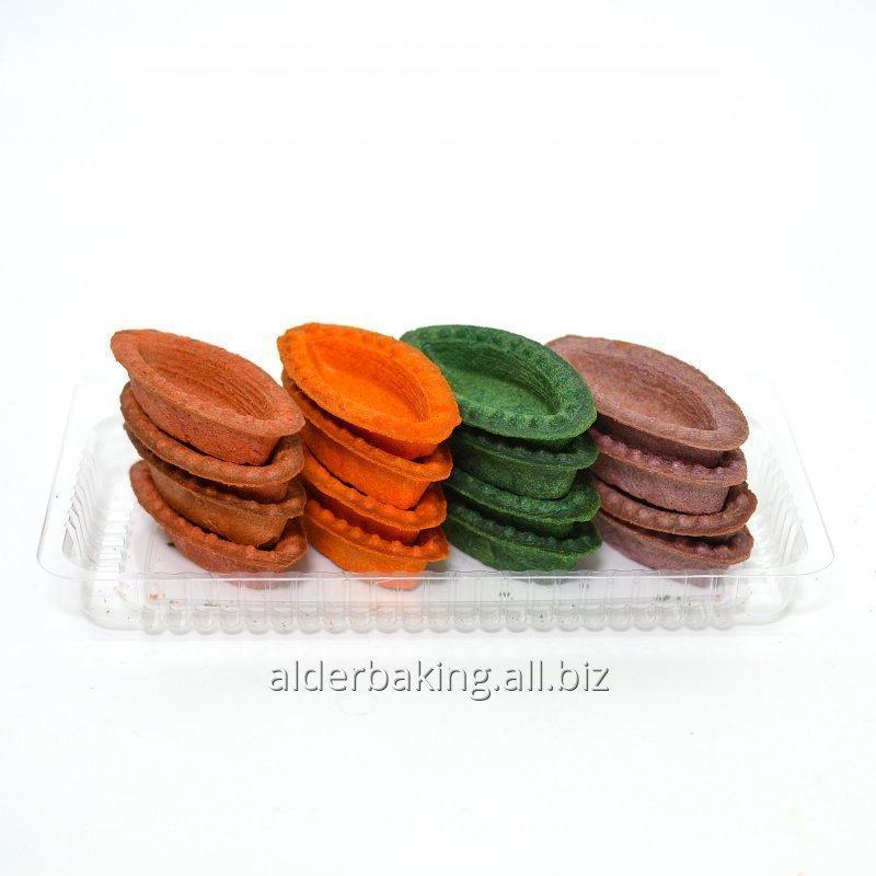 Taartjes deeg in de vorm van boten multi-gekleurde voor salades 150g.