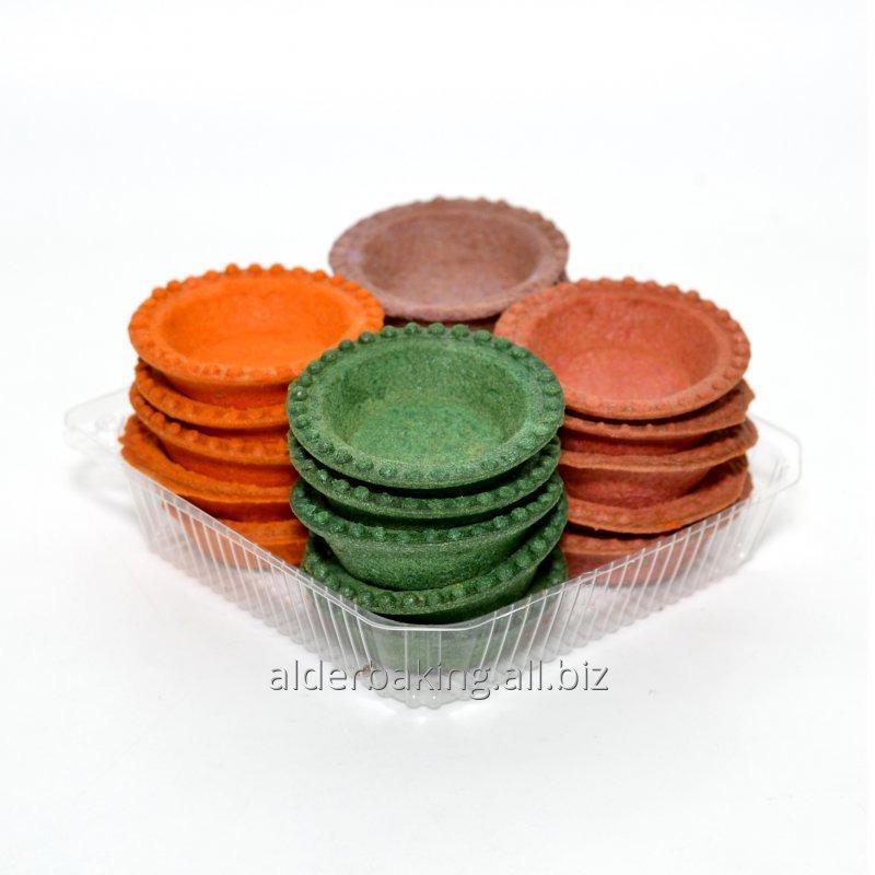 Купить Тарталетки из теста разноцветные для салатов 240г.