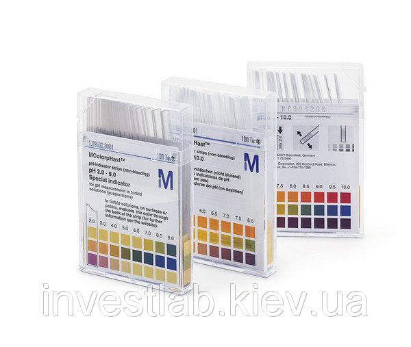 Индикаторные полоски для определения остаточной кислотности/щёлочности MERCK