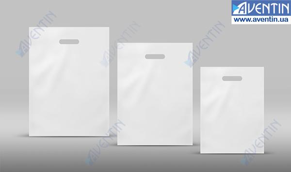 Buy Path Handle Bags white glossy 300х400 (50pcs / pack)