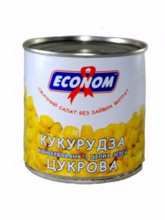 Купить Кукурудза Econom цукрова 340г