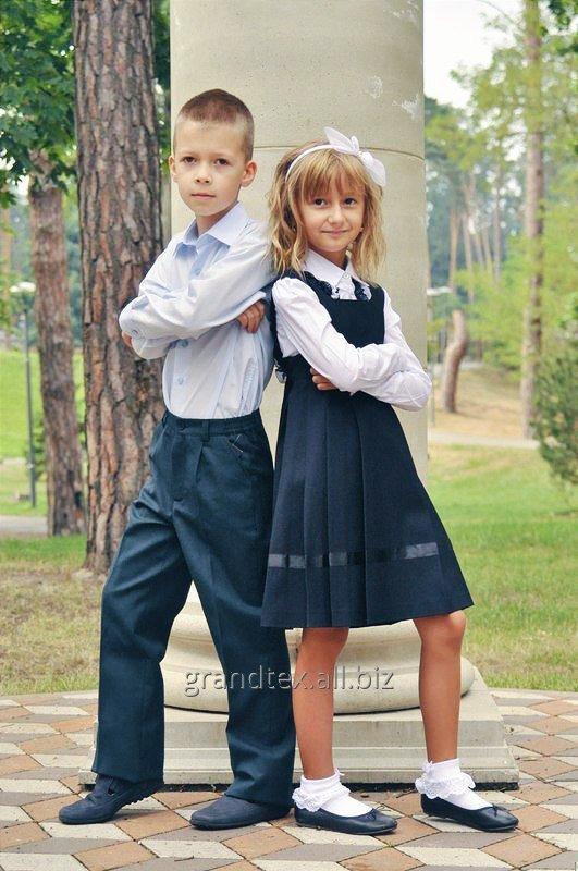 Школьный сарафан для девочек темно - синий школьная форма для девочек