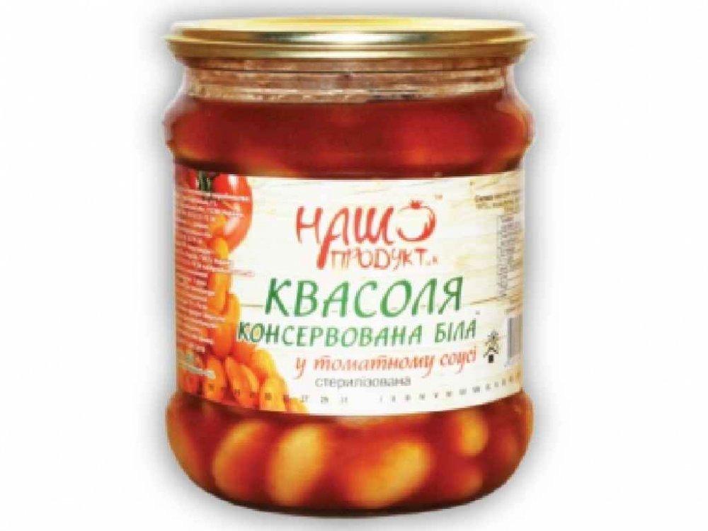 """Купити Квасоля в томаті """"Наш продукт"""" *8шт"""
