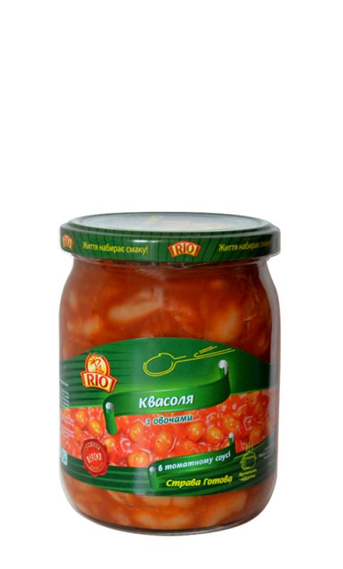 """Купить Квасоля з овочами в томатному соусі 480 г ТМ """"РІО"""""""