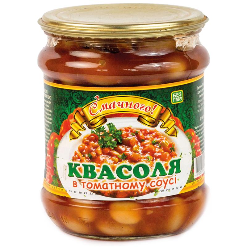 """Купить Квасоля в томатному соусі """"Смачного"""""""
