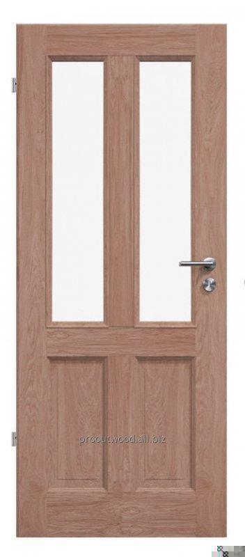 Купить Межкомнатные двери со стеклом из дуба 44 * 800 * 2000 мм ламельная технология из натурального дерева , модель TYP3 GD2
