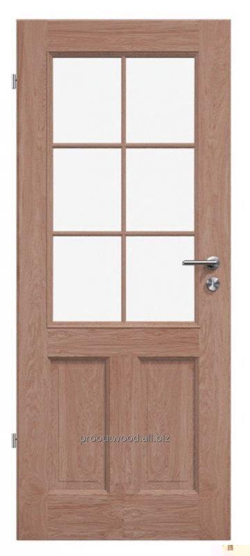 Купити Міжкімнатні двері зі склом дерев'яні дуб, модель TYP3 GD3