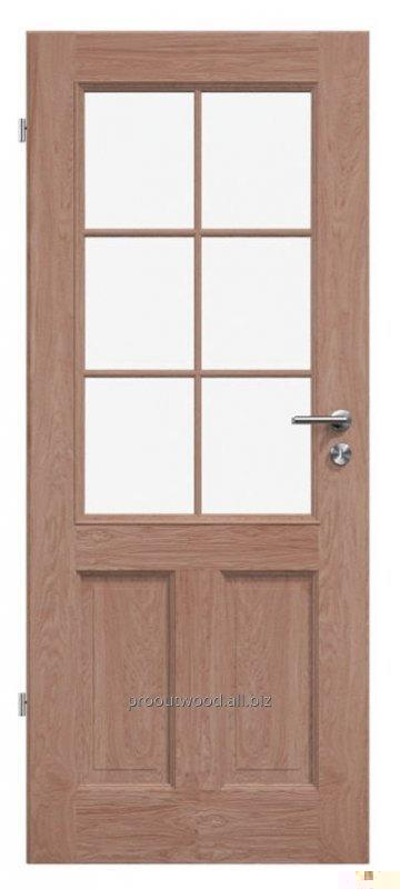 Buy Interior doors with glass wooden oak, model TYP3 GD3