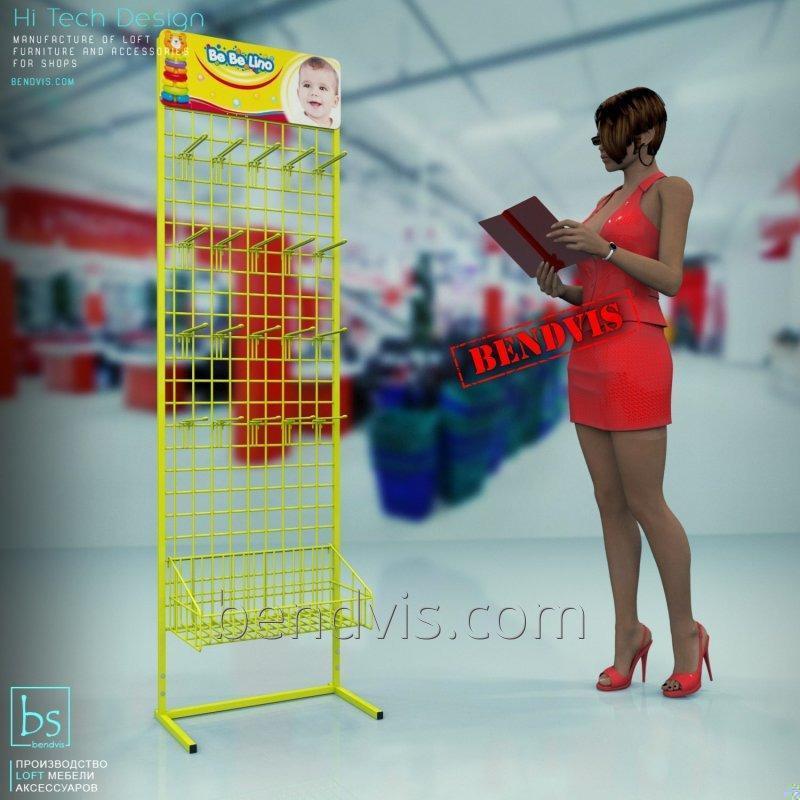 Купить Сетчатое торговое оборудование Bebelino