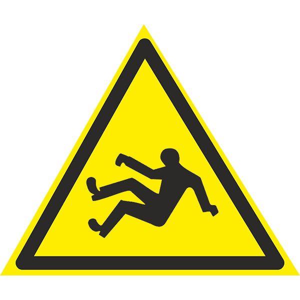 Купить Знак Осторожно ! Возможно падение 150мм с-к пленка