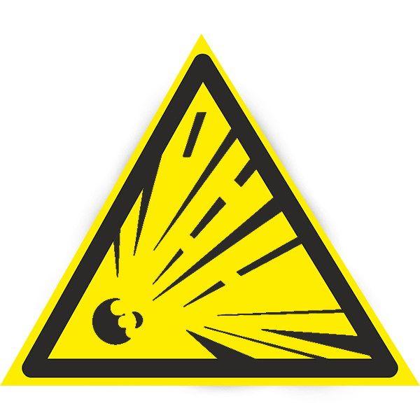Купить Знак Осторожно ! Опасность взрыва 150мм с-к пленка