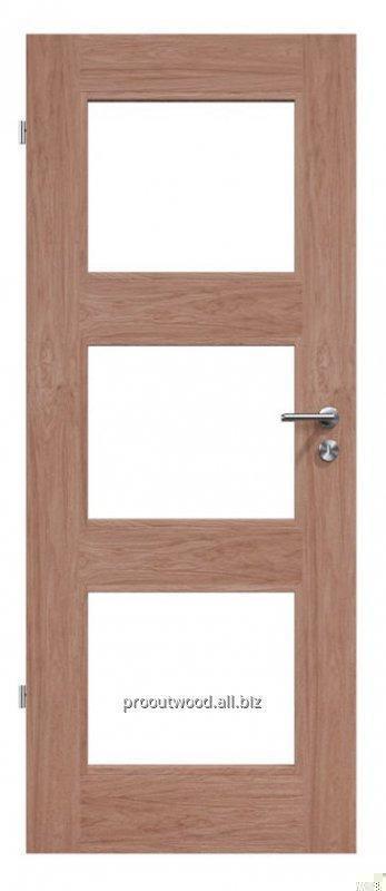Купить Межкомнатные двери со стеклом дуб премиум класс ручная работа по канадской технологии, модель TYP4 GD10