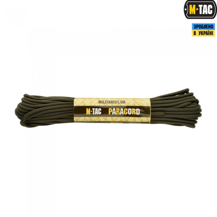 Купить M-Tac паракорд 550 type III OD зеленый 15 метров