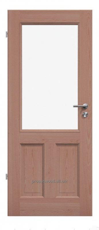 Buy Interior doors with large glass natural beech color season technology of wood, model Typ3 GB6