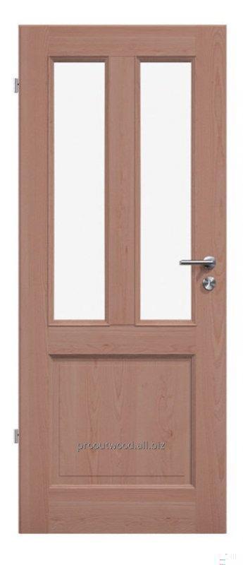 Купить Межкомнатные двери со стеклом бук премиум ручная работа, модель TYP3 GB9