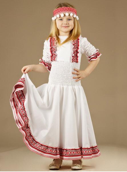 Одежда праздничная детская Женское платье - вышиванка ЖП 30