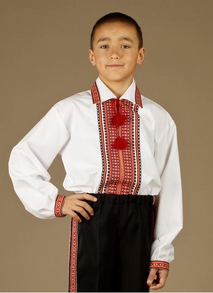 Одежда праздничная детская Мужская рубашка-вышиванка ЧС 23