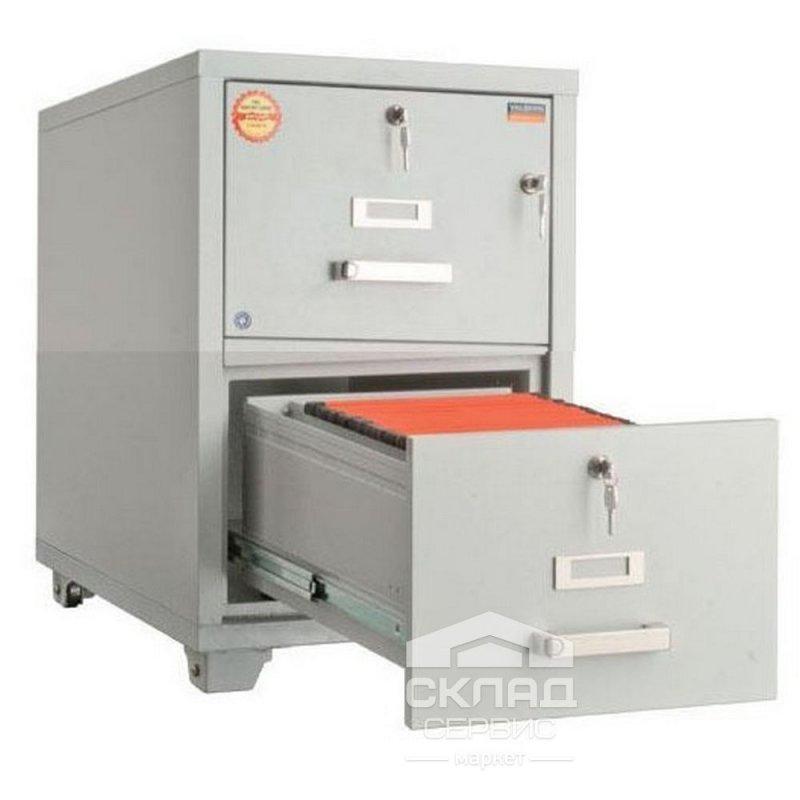 Купить Картотечный шкаф огнестойкий FRF 2K-KK 769х559х811 мм
